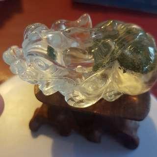 🚚 Green phantom crystal Pixiu - 75g 6cm