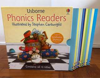 Box Set of 12 x Usborne Phonics readers, Learn to read