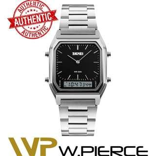 SKMEI 1220 W.Pierce Luxury Fashion Casual Quartz Watch Waterproof Stainless Steel Band Analog Digital Sports Watches Men relogio masculino Casio,Zoo York,Timex,Time Depot,Mossimo,G-Shock,Gshock