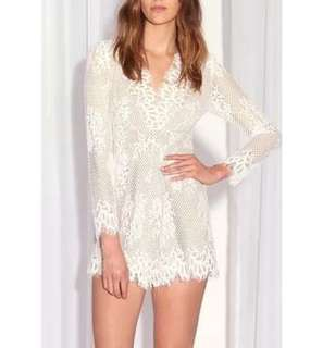Sheike White Lace Playsuit
