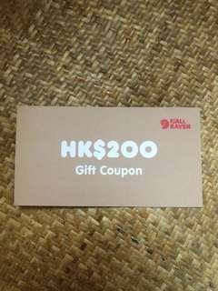 FJALL RAVEN gift coupon