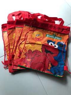 Elmo Birthday Drawstring Bag
