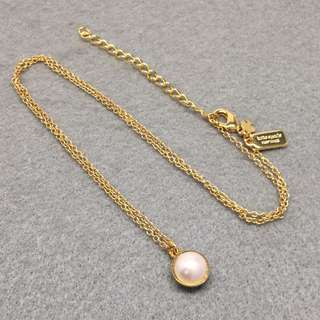 Kate Spade New York Sample Necklace 金色珍珠頸鏈
