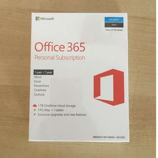 Microsoft Office 365 Personal Subscription (Sealed)