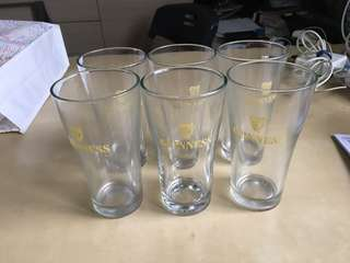 Guinness Beer Glass x 6
