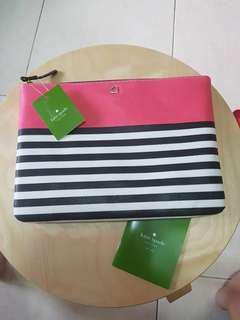 BRAND NEW Kate Spade Strips Big Pouch