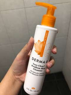 Derma E very clear acne cleanser