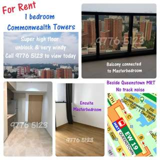 Commonwealth Towers - 1 bedroom For Rent (2 mins to Queenstown MRT)