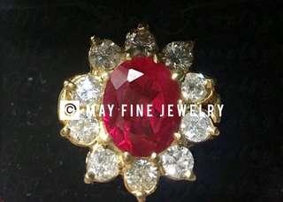 Coming soon! Burmese Ruby Ring in VVS Diamonds