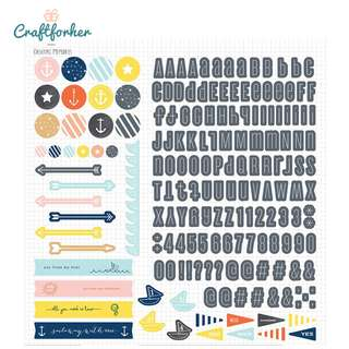 🚚 ★Sticker★ Atlantic 12x12 Sticker Sheet with Letters, Numbers, Icons and Phrases