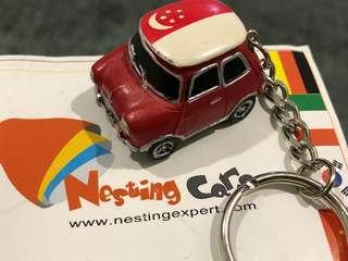 Miniature Mini with SG flag