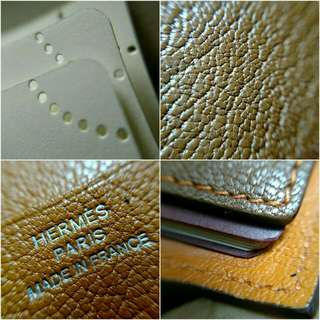 Hermes - 2009 Brown Chevre Mysore Leather Agenda Cover With A-Z Address Book and Blank Refills