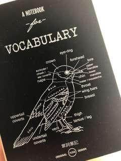 英文單詞筆記簿