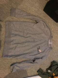 Grey light jumper size 10