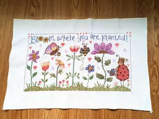 Bloom Where You Are Planted Cross Stitch