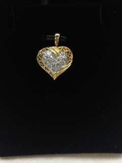 18K Yellow Gold Diamonds Pendant