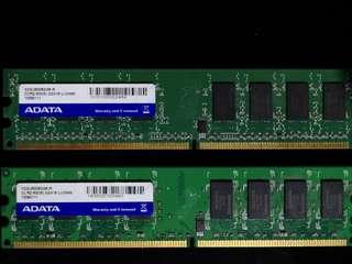 AData DDR2 800 2G X2 100%WORK