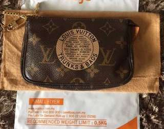 AUTHENTIC LV LOUIS VUITTON Mini Pochette Accessory Pouch (Limited Edition)