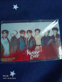 GOT7 fan card