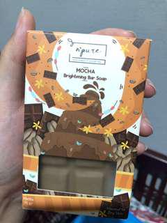 N'Pure Mocha Brightening Bar Soap sabun pemutih