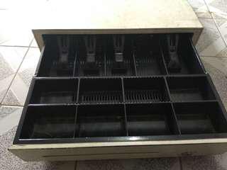 Cash drawer (laci uang) bekas minimarket, bisa connect langsung ke aplikasi kasir
