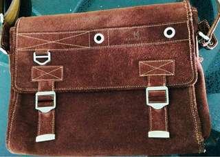 Kaufmann Suede Sling Bag