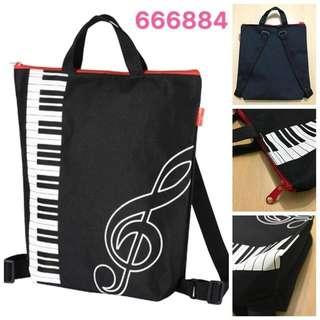 日本Piano line出品 兩用琴書袋/背囊,可作背包或手挽袋使用