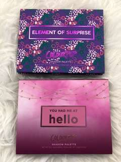 🚚 Instock Colourpop Palettes You Had Me Hello & Element of Surprise