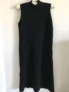🚚 黑針織長版裙