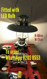 Brand NEW Original classic antique collectible vintage collectable retro original kerosene oil lantern lamp light fitted with modern LED bulb