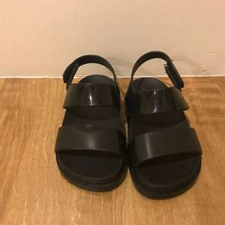 Mini Melissa Cosmic Sandal BB Black Size USA 8