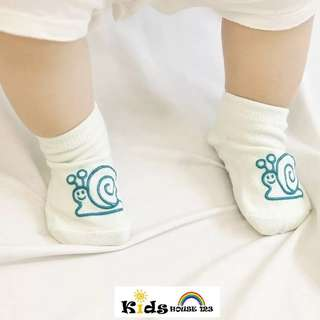 🚚 3-pair Adorable Graphic Socks for Baby and Toddler (0-4 yrs) O011 Snail