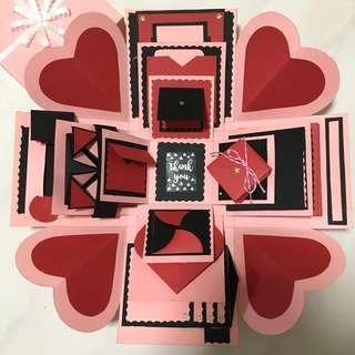 Love X Valentine X Birthday Explosion Box