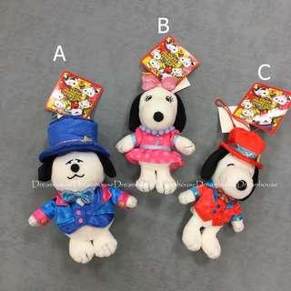 大阪環球影城 奧拉夫 olaf  貝兒 belle 史努比 魔術師 西裝 造型 吊飾娃娃