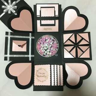 Baby Pink Love/Birthday/Anniversary Themed Explosion Box