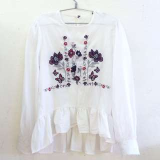 Zara Embroided Top