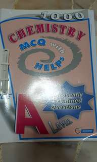 1000 chemistry mcq with helps GCE A level