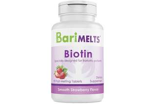 [IN-STOCK] BariMelts Biotin Dissolvable Bariatric Vitamins - Natural Strawberry Flavor - 90 Fast Melting Tablets