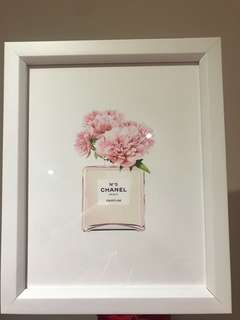 Chanel perfume Framed Art work