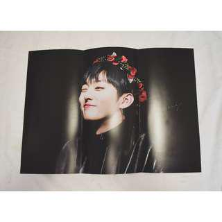 Jisung A3 Folded Poster by @and_spring_0308 // sg go share sharing fansite group order wannaone wanna one