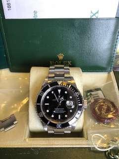 Rolex-16610-Z頭-12格帶-蜜洞-Full Set!888行貨!