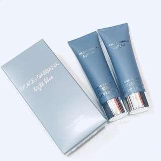 DOLCE & GABBANA LIGHT BLUE POUR HOMME SET - shower gel 50ml & after shave balm 50ml