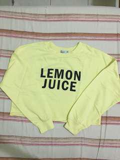 Bershka LEMON JUICE sweat shirt