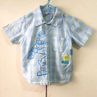 Disney Boys' Toy Story Plaid Polo (Size 4T)