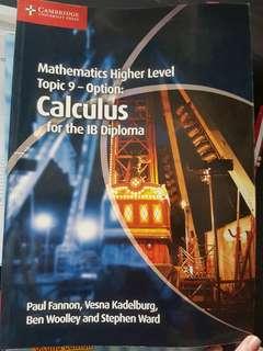 Calculus options HL math (IB)