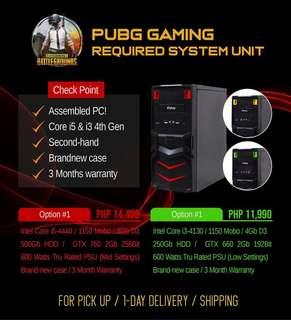 Assembled PUBG gaming desktop for sale