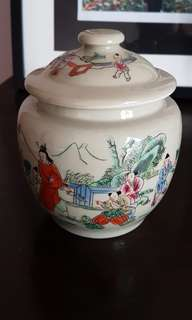 Instock Kam Cheng Oriental Chinese Figure Jar