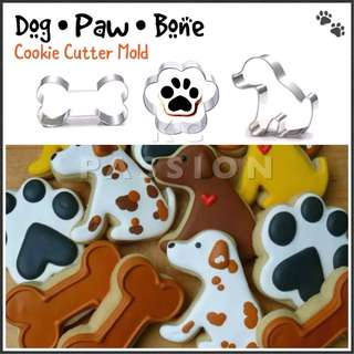 🐶 PAW PATROL THEME [ DOG • PAW • BONE ] CUTTER MOLD SET TOOL Cake Decorating Tool for Cookies • Fondant Cake & Cupcake • Bread Dough • Pastry • Sugar Craft • Jelly • Gum Paste • Polymer Clay Art Craft •