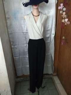 The executive jumpsuit monochrome kimono sleeveless