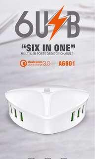 全新 A6801 QC3.0 6USB 輸出
